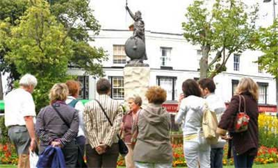 A City Walking Tour near King Alfred's Statue